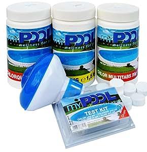 Juego de limpieza de piscina (5cloro Mult itabs Pool tester Cloro pastillas Pool Cuidado