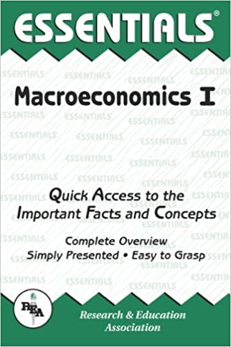 The Essentials of Macroeconomics, Vol. 1 (Essentials Study Guides) by Robert S. Rycroft (1989-11-09)