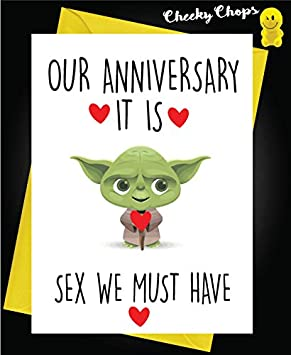 Carte Anniversaire Yoda.Funny Carte D Anniversaire Saint Valentin Amour Husband Wife