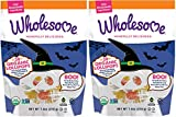 Wholesome Lollipop Halloween Candy Treats - USDA Organic, Naturally Flavored Ghosts & Skulls in Watermelon and Orange Flavors, 7.4 Ounce Bag (Pack of 2) - Non-GMO, Gluten, Peanut and Tree Nut Free