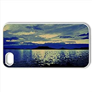 Blue Moon Watercolor style Cover iPhone 4 and 4S Case (Sun & Sky Watercolor style Cover iPhone 4 and 4S Case)