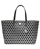 MICHAEL Michael Kors Kiki Medium Tote Handbag, White/Blk