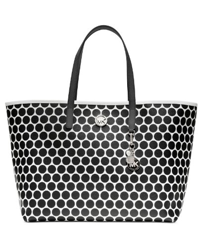 MICHAEL Michael Kors Kiki Medium Tote Handbag, White/Blk by MICHAEL Michael Kors