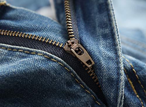 8 Stili Strappati Fit Blue Mininess Jeans Super Pants Skinny Aderenti Uomo fx8FAqg