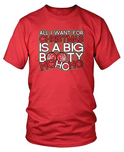 Amdesco Men's Want for Christmas is a Big Booty HO HO HO T-Shirt, Red XL