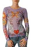 Women's Lavender Fairy Tale Mesh Tattoo Shirt