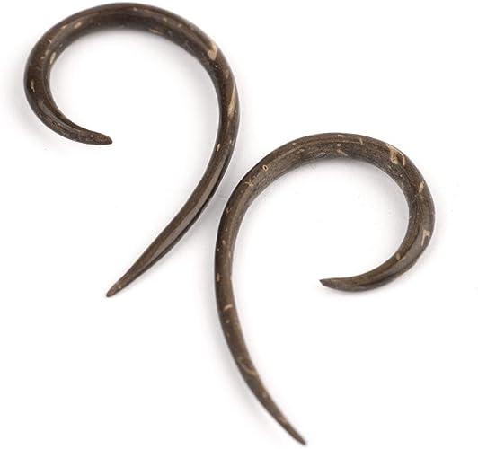 81stgeneration Coconut Wood 3mm 10 Gauge Taper Stretcher Plug Tribal Earrings