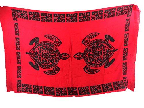 tattoo primitive tribe turtle red sarong - Tattoo Bikini Shopping Results