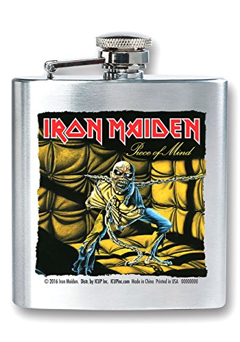 ICUP Iron Maiden - Piece Of Mind Album Cover 8oz. Stainless Steel Flask