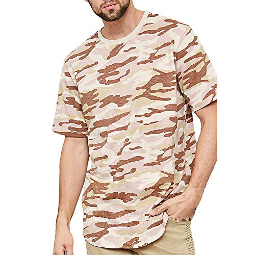 (Men's Camouflage T-Shirt Crewneck Short Sleeve Casual Tee Tops)
