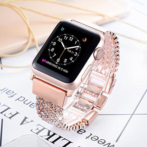 Apple Watch Band 42mm for Women Girls, FresherAcc Bling CZ ...