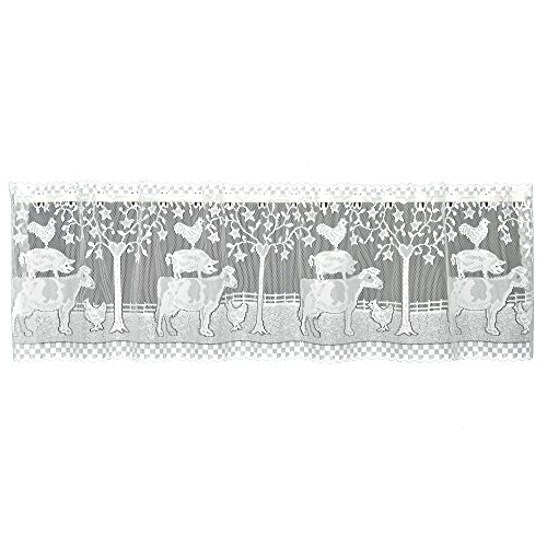 Heritage Lace 6390W-6030 Farmhouse Tier, White, 60