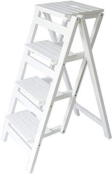 SED Escaleras de tijera multiusos Taburete de peldaños plegables s Escalera de 4 peldaños Bastidor de soporte de flores Taburete de escalera antideslizante: Amazon.es: Bricolaje y herramientas