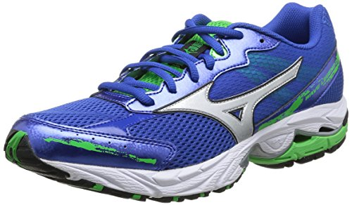 Mizuno - Zapatos para hombre Turkishsea/Silver/Classicgreen
