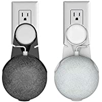Brikivist Outlet Wall Mount Stand Hanger with Clamp Bracket for Google Home Mini Voice Assistants, Speaker