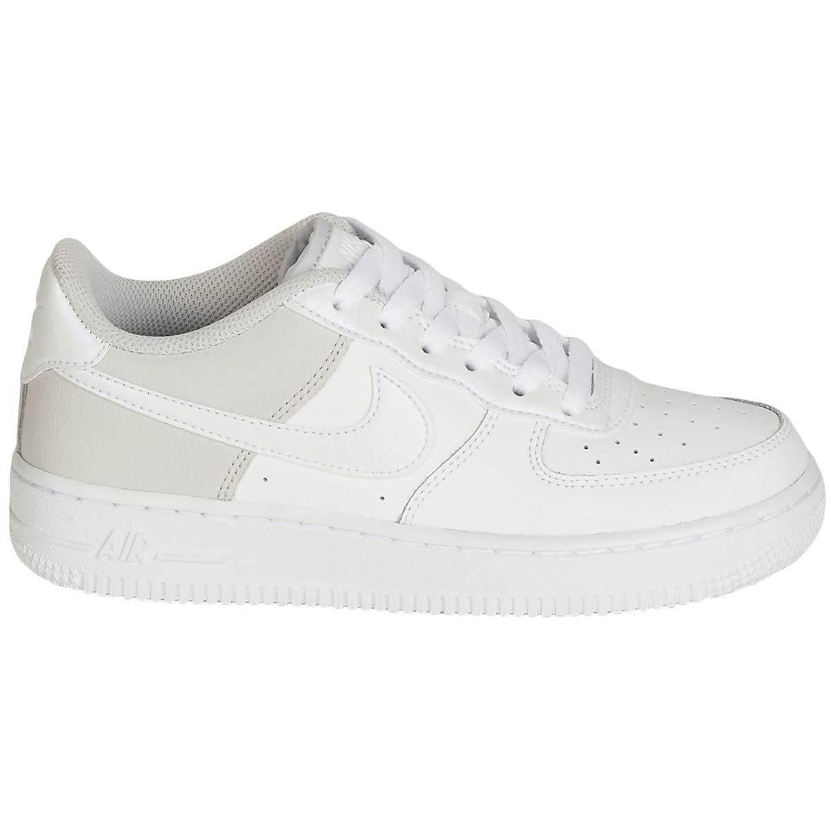 7e64a63568 Galleon - Nike Air Force 1 Youth - White Grey - 38.5 EU