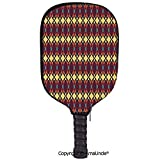 AmaUncle 3D Pickleball Paddle Racket Cover Case,Abstract Ethnic Traditional Figures Fractal Design Antique Revival Retro Artwork Decorative Customized Racket Cover with Multi-Colored,Sports Accessorie