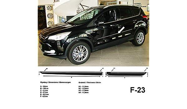 Spangenberg Listones de protección Lateral Negro para Ford Kuga II SUV Combi 2. generación a Partir de 01.2013- F23 (370002305): Amazon.es: Coche y moto