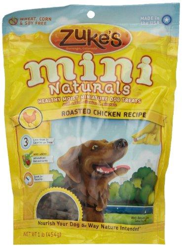 Zuke s Mini Naturals ROASTED CHICKEN RECIPE Dog Treats 1LB PACK OF 3