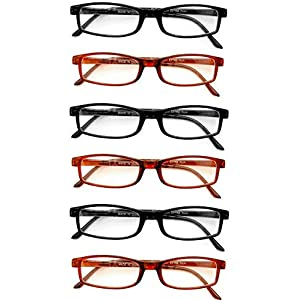 Extra Pair Value Eyes Plastic Frames 6 Pack - Incredible Value, 3.25