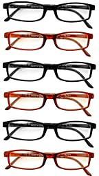 Extra Pair Value Eyes Plastic Frames 6 Pack - Incredible Value, 2.50