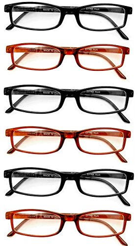Extra Pair Value Eyes Plastic Frames 6 Pack - Incredible Value, 2.00