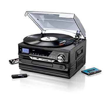Equipo estéreo con Encoding Radio Tocadiscos kassettenplayer ...