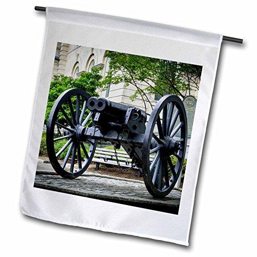 3dRose Danita Delimont - Weaponds - Infamous double-barreled Cannon, Athens, Georgia - 18 x 27 inch Garden Flag - Georgia Athens Images