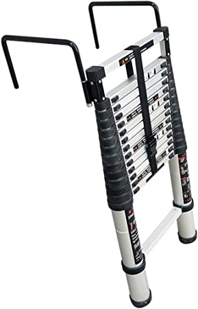 Escalera extensible Escalera telescópica Escalera telescópica de aluminio con ganchos - Escalera de extensión Extienda la escalera portátil Escalera plegable Función multiuso, 200 Kg, 2.6m / 3.2m / 3.: Amazon.es: Hogar