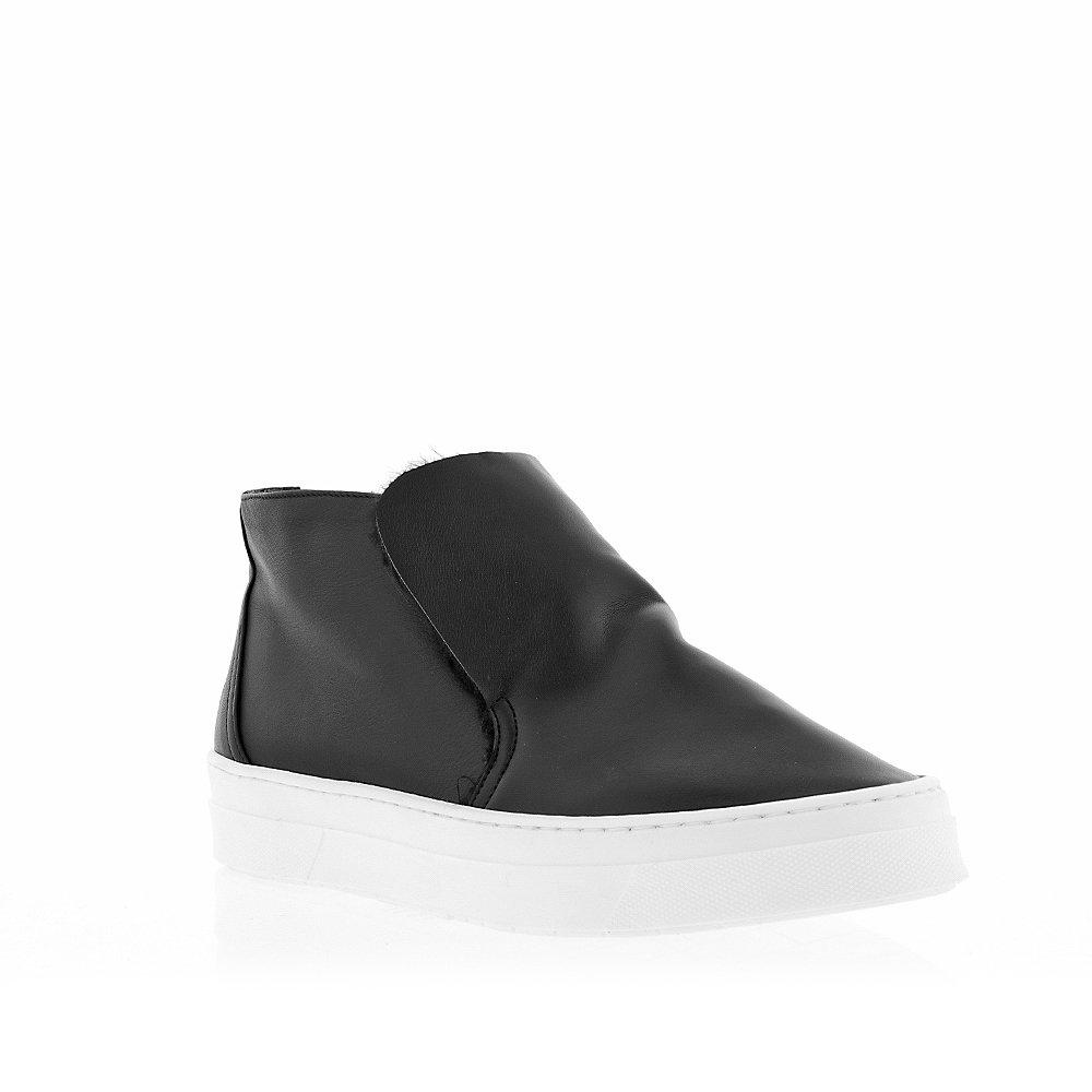Gabriella Michel Black Soft Leather Mid Top