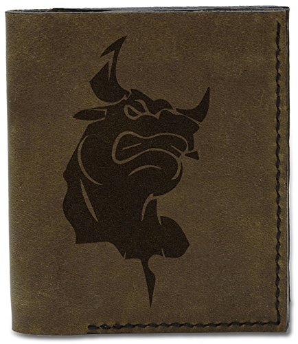 d Tattoo Natural Bull Wallet Leather 04 Tattoo MHLT Tribal Men's 2 Bull Tribal Handmade Genuine fw6UqqE