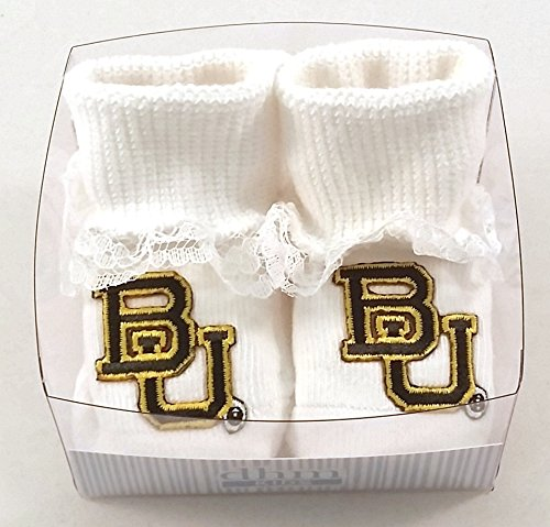 Future Tailgater Baylor Bears Boxed Baby Booties with Lace