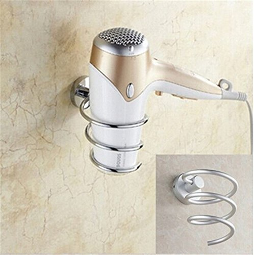 Salon Spiral Wall Mounted Hair Dryer Holder Stylist Tool Drier Rack Organizer - In Center Stores Metro
