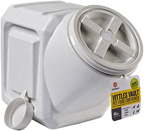 Vittles Vault Contenedor de comida para mascotas apilable herméticamente Warm Granite 40 Lbs 2