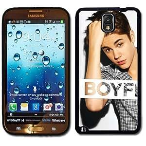 Samsung Galaxy Note 3 Black Rubber Silicone Case - Justin Bieber Boyfriend Believe 1