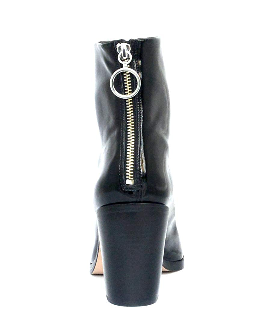 Schutz Agatha Black Patent Pointed Toe Edgy Designer Ankle Nyra Bootie