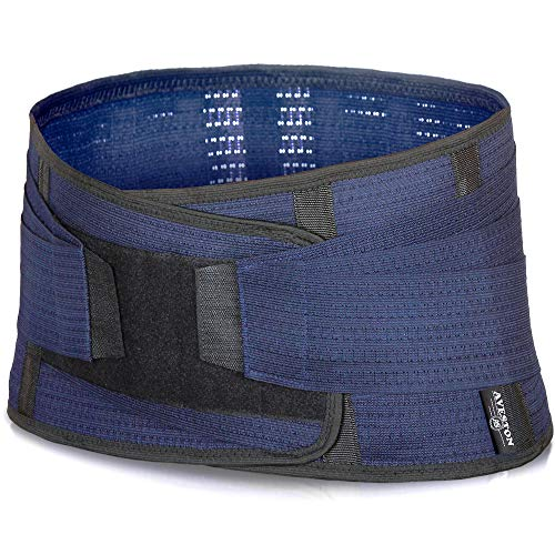 (Back Support Lower Back Brace Provides Back Pain Relief - Breathable Lumbar Support Belt for Men and Women Keeps Your Spine Straight and Safe (Medium - 33''- 38