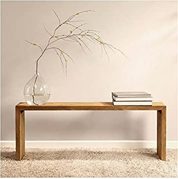 Renate Natural 48 Inch Brown Wood Dining Room Bench