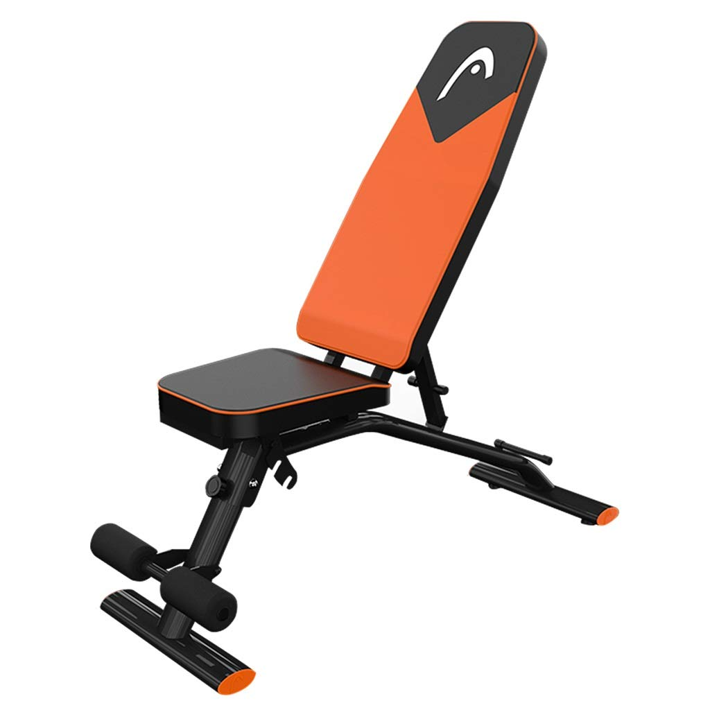Dumbbell Bench Home Fitness Chair sit-up Board Abdominal Exerciser Multi-Function Weight Bench, 7 Height Adjustment (Color : Black, Size : 974145cm)