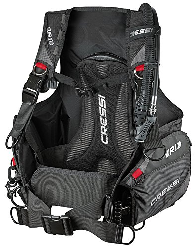 Cressi R1 Weight with Integrated BCD, Black/Grey/Red, Large