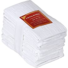 Utopia Kitchen 12 Pack Flour-Sack Towels - 100% Pure Ring Spun Cotton Kitchen Towels - Multi-Purpose - Highly Absorbent