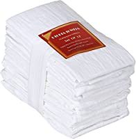 Utopia Kitchen 12 Pack Flour-Sack Towels, 100% Pure Rung Spin Cotton Hand Towels Multi-Purpose Highly Absorbent