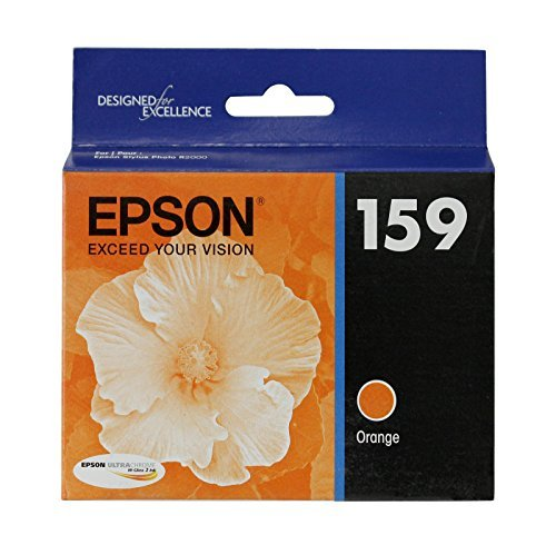 Epson T159920 OEM Ink - (159) Stylus Photo R2000 UltraChrome Hi-Gloss 2 Photo Orange Ink Cartridge (Epson Models Stylus Photo)