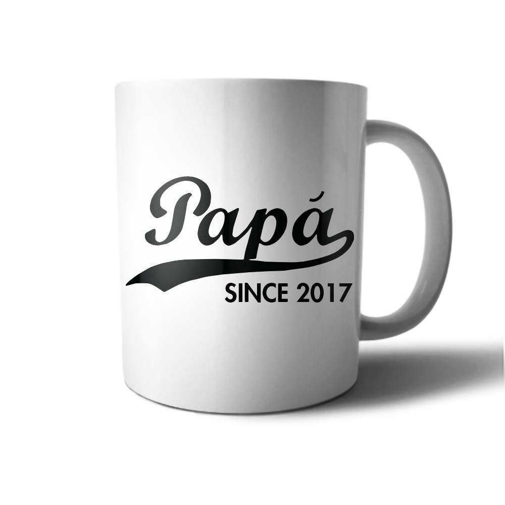 Tazza idea regalo festa del Papa' Personalizzato con Data Papa Since Babloo