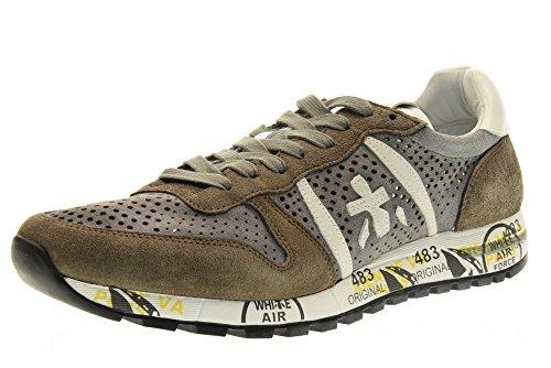 PREMIATA el hombre bajas zapatillas de deporte 2123 ERIC talla 42 Tortora / Grigio