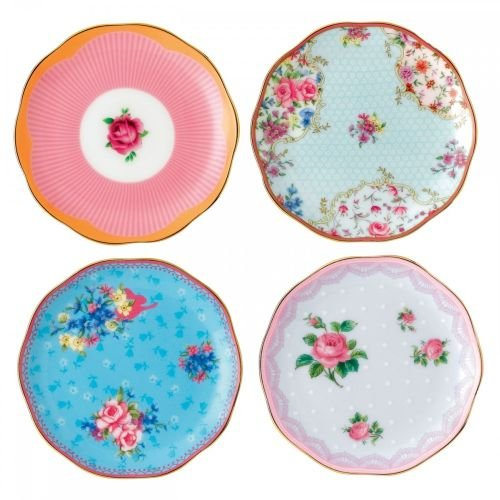 (Royal Albert Candy Mix Collection Mini Plates, Box of 4)