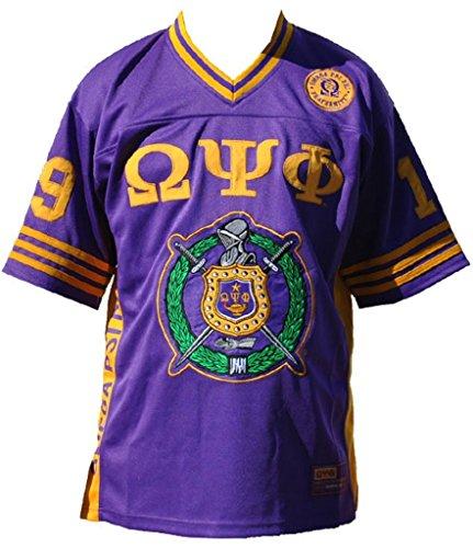 Omega Psi Phi Fraternity Men's Football Jersey Medium Purple