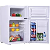 New Stainless Steel Refrigerator Small Freezer Cooler Fridge Compact 3.2 cu ft. Unit