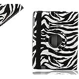 Sanoxy 360 Degrees Rotating Stand (Zebra) Stylish Case for Apple New iPad 3 and iPad 2 (SANOXY_IPA360-ZBR)