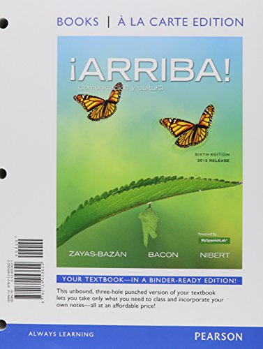 ¡Arriba!-comunicación-y-cultura-2015-Release-Books-a-la-Carte-Edition-plus-MySpanishLab----Access-Card-Package-(6th-Edition)